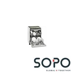 Exquisit EGSP 140 E-B INOX Einbau-Geschirrspüler, 7 Programme, 60cm