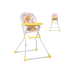 Lorelli Hochstuhl Kinderhochstuhl Cookie Bechervertiefung, abwaschbarer Stoff, klappbar gelb