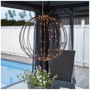 STAR TRADING Hängeleuchten LED 3D Kugel MOUNTY D: 50cm 198 warmweiße LED 8 Funktionen faltbar outdoor
