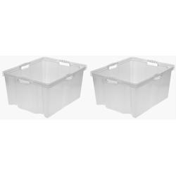 keeeper Aufbewahrungsbox franz (Set, 2 Stück) weiß