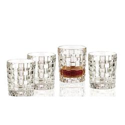 Nachtmann Whiskyglas 4er Set Bossa Nova Whiskybecher Whiskeygläser aus Kristallglas 330ml, Kristallglas