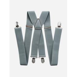 axy Hosenträger HB35 Herren Hosenträger 4 Stabile Clips X-Form 3,5cm Breit verstellbar und elastisch 120cm Lang grau