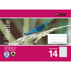 BUND Notenheft A5, Lineatur 14