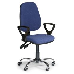 Bürostuhl comfort mit armlehnen, blau