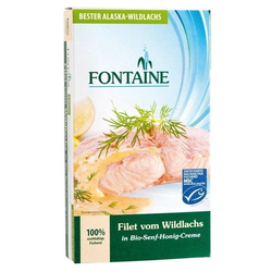 Wildlachs-Filet in Senf-Honig bio
