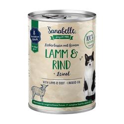 Sanabelle Nassfutter mit Lamm & Rind 400 g (Menge: 6 je Bestelleinheit)