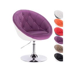 Woltu Esszimmersessel, 1 x Barsessel Loungesessel mit Lehne 2 farbig