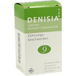 DENISIA 9 Zahnungsbeschwerden Tabletten 80 St.
