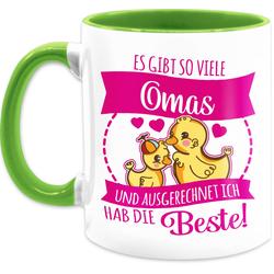 Shirtracer Tasse Es gibt so viele Omas - fuchsia - Tasse für Oma - Tasse zweifarbig, Keramik
