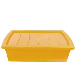 ONDIS24 Aufbewahrungsbox Aufbewahrungsbox mit Deckel, Unterbettbox 30L, Rollerbox Spinning Box M, Kunststoffbox halbtransparent, Sichtbox, 30 liter