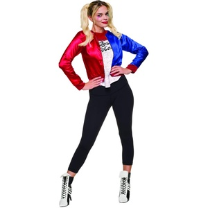 Rubie's Offizielles Suicide Squad Damen Harley Quinn Joker Kostümkit, Mehrfarbig, L (Herstellergröße: 14-16)