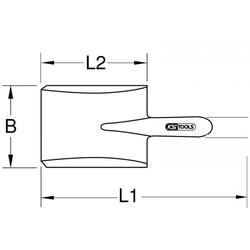 KS Tools BRONZEplus Spaten 963.9630