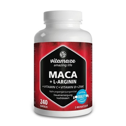 MACA 4:1 hochdosiert+L-Arginin Kapseln 240 St