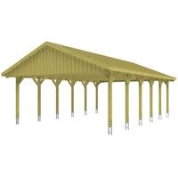 SKANHOLZ Sauerland Doppel 6,20 x 9,00 m imprägniert inkl. Dachlattung