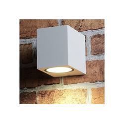 Licht-Erlebnisse Strahler AALBORG Außenwandlampe quadratisch modern Down Strahler GU10 Lampe (1-St)