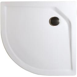 Schulte Rundduschwanne Extraflach, rund, Sanitäracryl, BxT: 80 x 80 cm