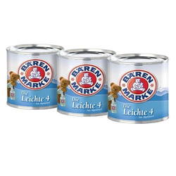 Bärenmarke Die Leichte Kondensmilch aus fettarmer Milch 170g 3er Pack
