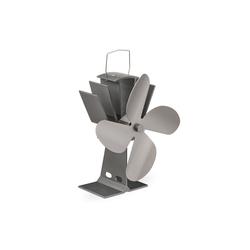 relaxdays Kaminventilator Ofenventilator ohne Strom silberfarben
