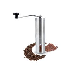 Intirilife Kaffeemühle Manuelle Mühle zum Mahlen von Kaffee aus Edelstahl, Hand Kaffeemühle Espressomühle