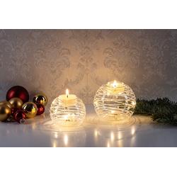 Kristall, Beleuchteter Teelichthalter-LED aus Glas,