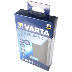Varta Powerbank LCD 7800mAh Ladestrom max. 2,4A mit Micro USB Ladekabel und 2x USB Anschluss