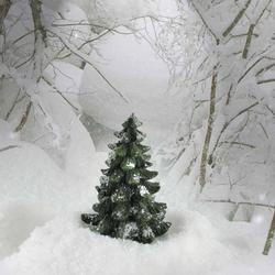 Deko-Tanne mit Schnee