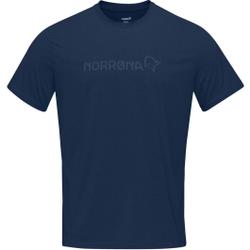 Norrona - Norrona Tech T-Shirt M Indigo Night - T-Shirts - Größe: L