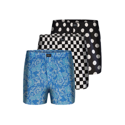 MG-1 Boxer 3-Pack Boxershorts 'Motive' S