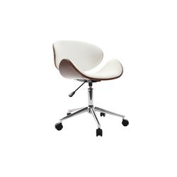Design-Bürostuhl Weiß und Holz WALNUT