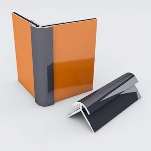 Duschrückwand-Profilsystem Außeneckprofil Aluprofil Aluminiumprofil für 3mm Duschrückwand Küchenspiegel 300cm anthrazit