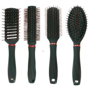 4er Set Haarbürsten Rundbürste, Allzweckbürste, Stylingbürste, Sassonbürste alle mit Softgriff