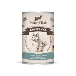 5x400g  + 400g GRATIS Natural Trail FAMILY CAT  Super Premium Nassfutter für Katzen Katzenfutter