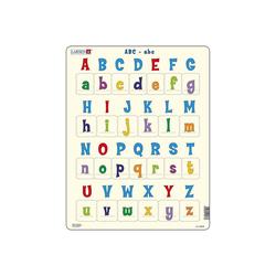 Larsen Puzzle Rahmen-Puzzle, 26 Teile, 36x28 cm, ABC-abc, Puzzleteile