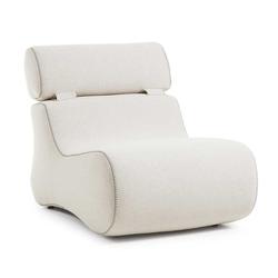 Organischer Sessel in Beige Stoff Lehne klappbar