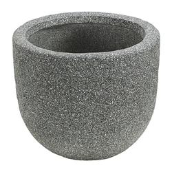 Dehner Blumentopf Pflanztopf Rock,Leichtbeton, grau