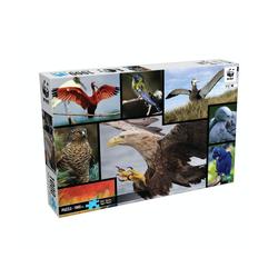 WWF Steckpuzzle WWF Puzzle Vögel (1000 Teile), 1000 Puzzleteile