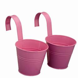 SIENA GARDEN Blumentopf 2er Set, pink, Ø16x14,5 cm