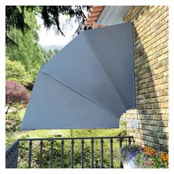 vidaXL Sonnenschirm vidaXL Faltbarer Balkonfächer Grau 210×210 cm