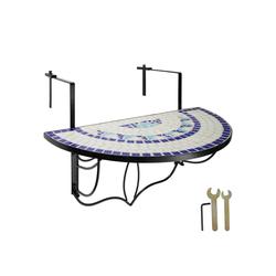 tectake Balkonhängetisch Balkontisch Mosaik klappbar (1-St)
