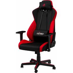 NITRO CONCEPTS Gaming-Stuhl S300 Gaming Chair Bürostuhlzertifizierung DIN EN 1335 rot