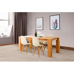 Home affaire Essgruppe Juna (Set, 5-tlg) beige Holz-Esstische Holztische Tische Sitzmöbel-Sets
