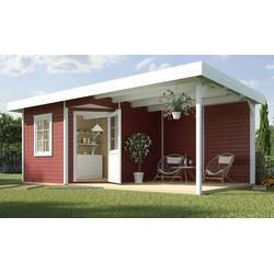 weka Gartenhaus Stellan 1, BxT: 586x278 cm, (Set) rot
