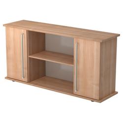 KAPA SB | Sideboard | mit Türen - Nussbaum Sideboard Chromgriff Metall