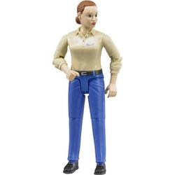 Frau mit hellem Hauttyp und blauer Hos