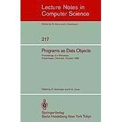 Programs as Data Objects - Buch