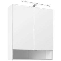 HELD MÖBEL Spiegelschrank 60 Breite 60 cm, mit Schalter und Steckdose