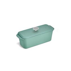 Springlane Kastenform Gusseisen, 34 cm, Brotbackform mit Deckel, Mint grün