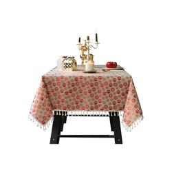 TOPMELON Tischdecke (1-tlg), Weihnachtstischdecke,Staubdicht,Waschbar rot 110 cm x 110 cm
