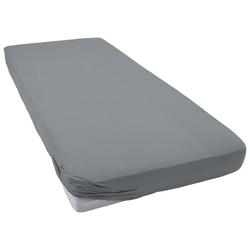 Spannbettlaken Jersey-Elasthan, Bassetti, bügelfreie Qualität grau 140-160 cm x 200-220 cm