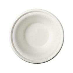 Papstar Pure Schalen Zuckerrohr, 380 ml, Stabiles Einweg-Geschirr aus Zuckerrohr, 15,5 x 4,6 cm, 1 Packung = 12 Stück